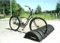 Repurposed tires for homemade chairs, recycled and
