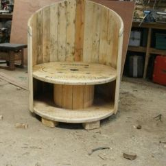 How Are Chairs Made Butterfly Chair Replacement Covers Cable Spool Repurposed As Tables And House Garden Furniture From Old Reel Planks A Pallet