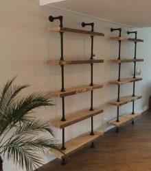 shelves and strong frames