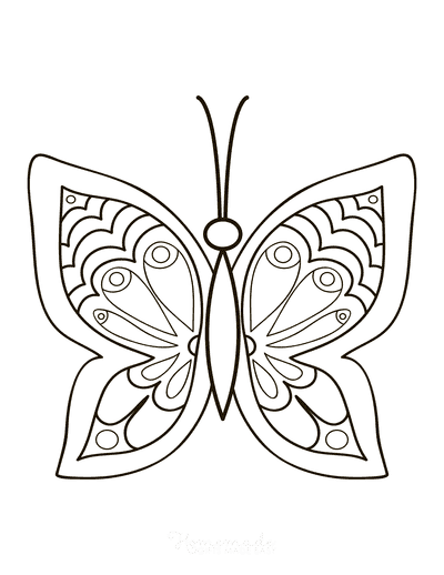 Easy Butterfly Coloring Pages : butterfly, coloring, pages, Butterfly, Coloring, Pages, Printables, Adults