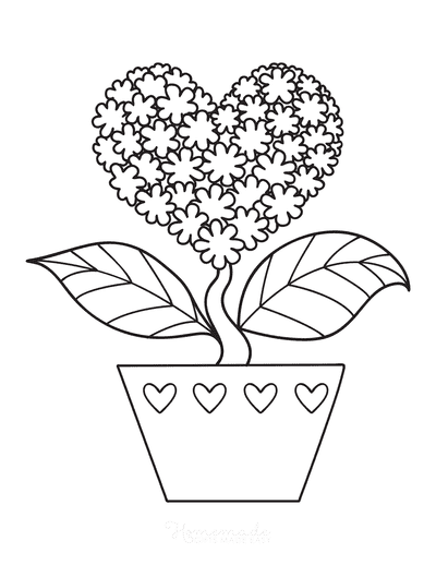 Coloring Pages Of Hearts And Flowers : coloring, pages, hearts, flowers, Heart, Coloring, Pages, Printables, Adults