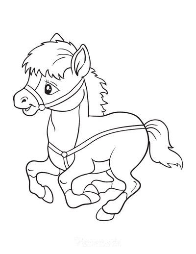 Baby Horse Coloring Pages : horse, coloring, pages, Horse, Coloring, Pages, Adults, Printables
