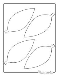 leaf template simple medium templates maple