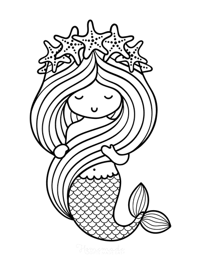 Printable Mermaid Pictures : printable, mermaid, pictures, Mermaid, Coloring, Pages, Printable
