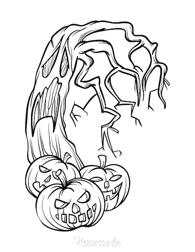 Easy Scary Halloween Drawings : scary, halloween, drawings, Halloween, Coloring, Pages, Printables