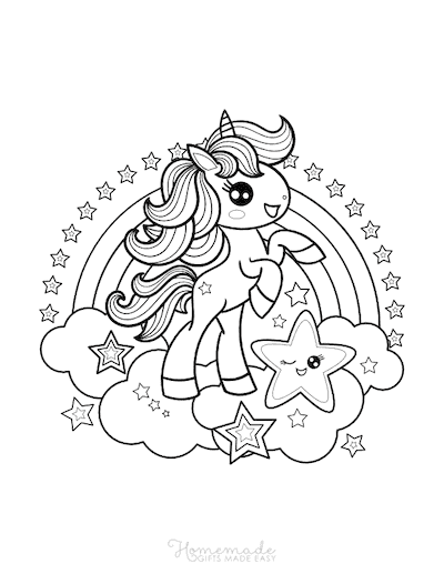 Cute Easy Unicorn Coloring Pages : unicorn, coloring, pages, Magical, Unicorn, Coloring, Pages, Adults, Printables