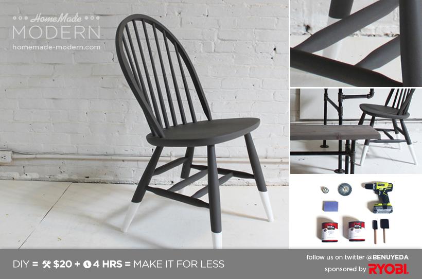 diy painted windsor chairs folding cane chair homemade modern ep5 dip dye postcard