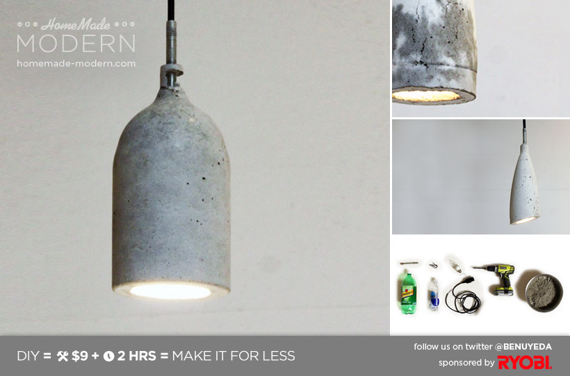 HomeMade Modern DIY EP9 Concrete Pendant Lamp Postcard