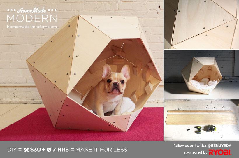 HomeMade Modern DIY EP13 Geometric Doghouse Postcard