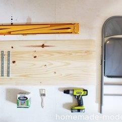 Folding Chair Racks Diy Fuf Bean Bag Homemade Modern Ep24 The Fold Up Office Pipe Bench Supplies