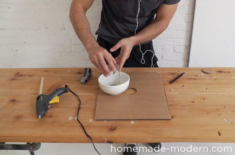 HomeMade Modern DIY EP37 Concrete Bowl Lamp Step 3