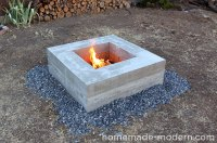 Homemade Wood Burning Fire Pits, Plans Bench With Storage ...