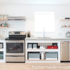 Kitchens For Less Black Kitchen Table Sets Homemade Modern Ep87 Concrete Countertops This Countertop Was Built Than 120 The Entire Is A