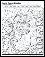 Famous Painting Coloring Pages : famous, painting, coloring, pages, Famous, Paintings, Coloring