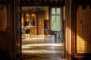 room, space, parquet