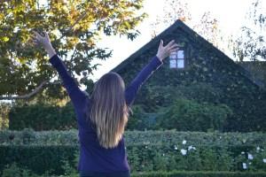 woman, girl, house