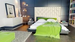 wall panel, room, bedroom