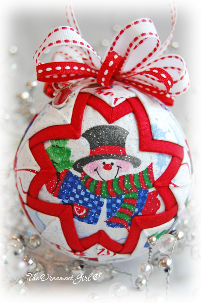 Snow Globe Quilted Christmas Ornament Homemade Christmas