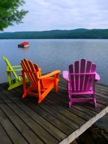 Lake at Adirondack Chair