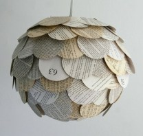 upcycled book globe