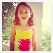 lila in strawberry tie dye by homemade city