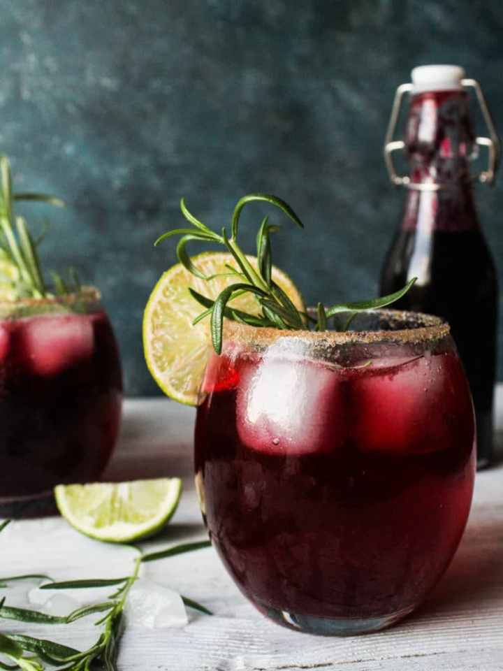 Sorrel drink with lime and rosemary