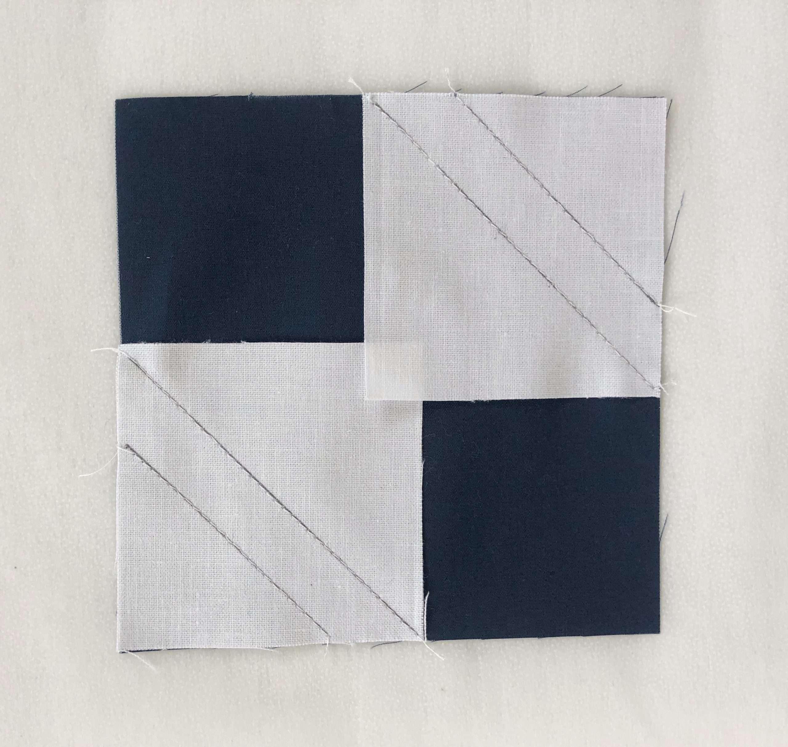 How to do No-Waste Stitch and Flip Quilt Blocks; homemadeemilyjane