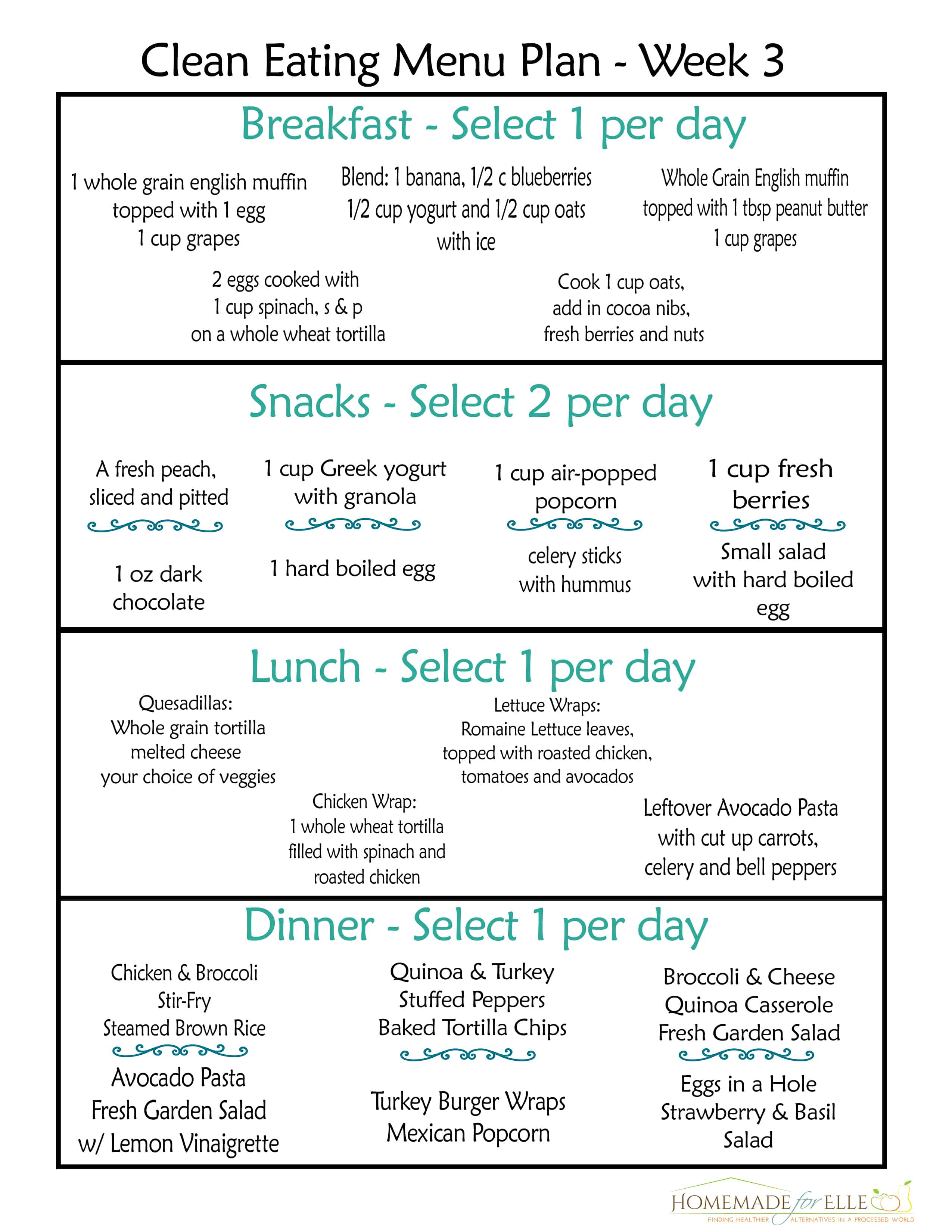 Clean Eating Meal Plan With Recipes Your Family Will