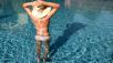 woman in the pool