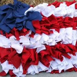 Patriotic Ruffle Pillows