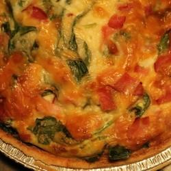 Cheesy Ham and Spinach Quiche