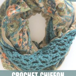 chiffon crochet infinity scarf