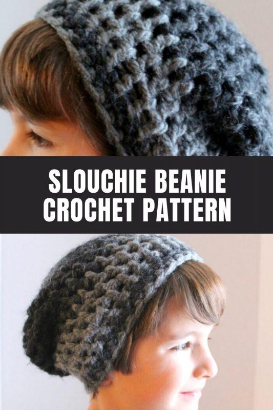 kids slouchie beanie crochet pattern