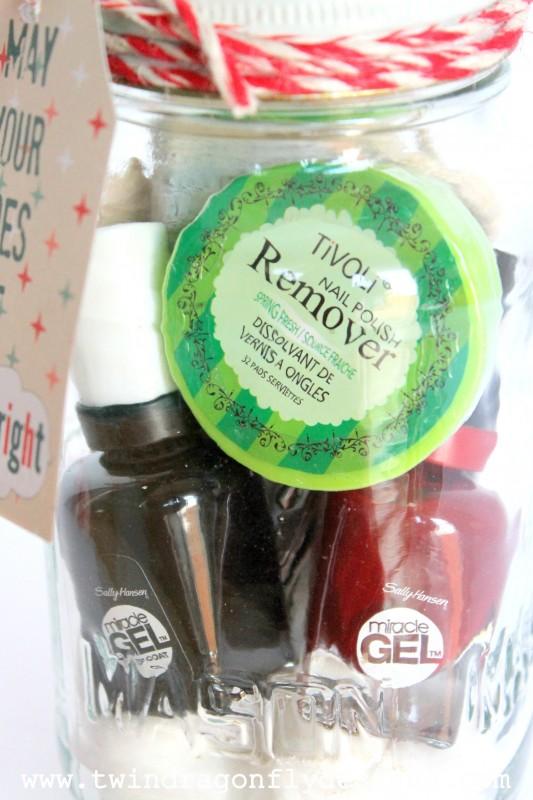 Mason Jar Pedicure Gift Idea