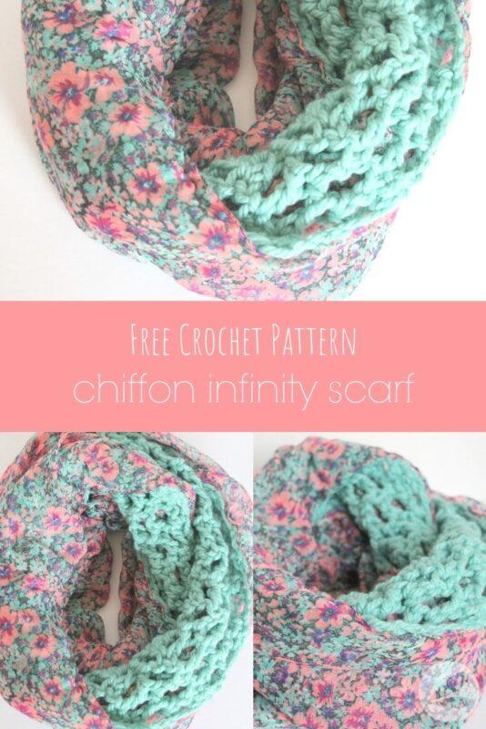 free crochet chiffon infinity scarf pattern