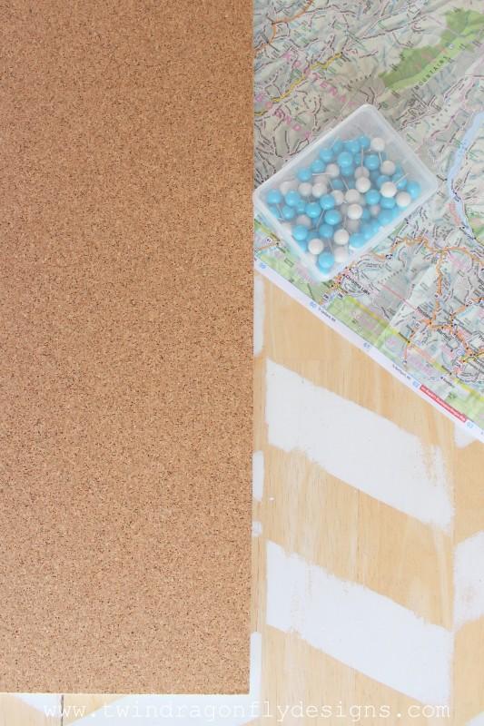 Family Destinations Cork Board Map