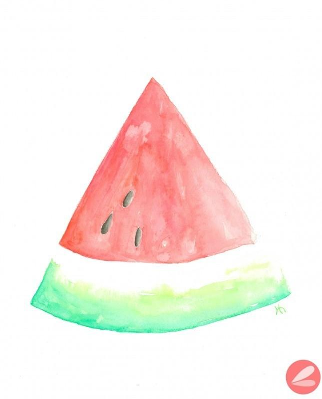 Watercolor Watermelon Printable