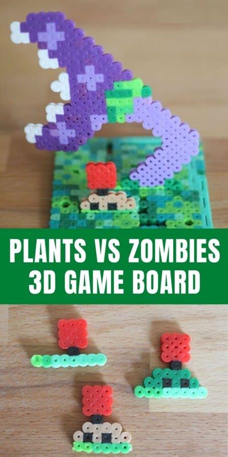Plants vs Zombies Perler Bead Game Board