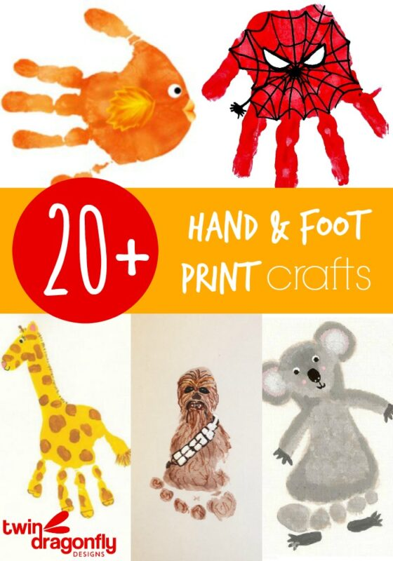 20+ Hand and Foot Print Crafts