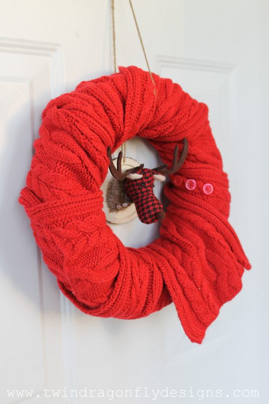 Simple Holiday Scarf Wreath