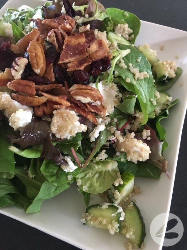 Cranberry Pecan Quinoa Salad in a Jar