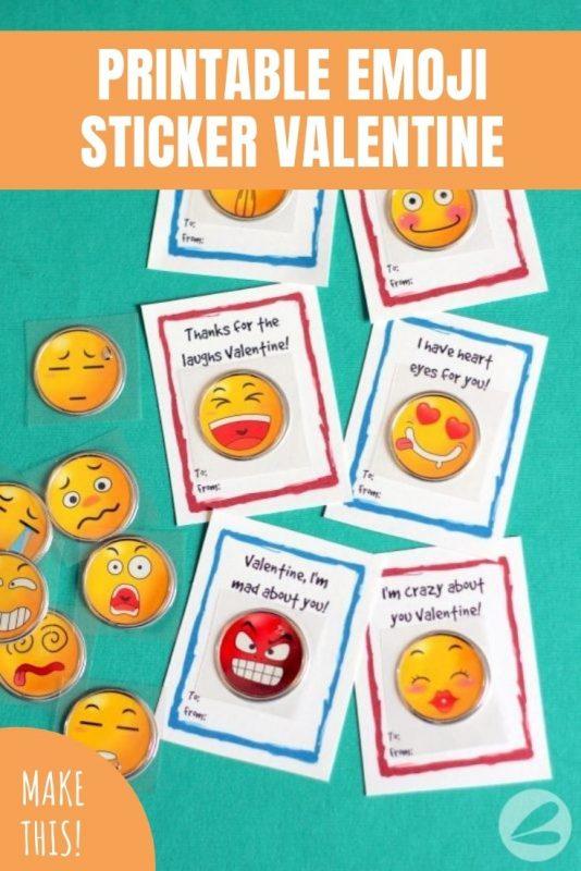 printable emoji sticker valentine