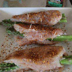 Havarti and Asparagus Stuffed Chicken