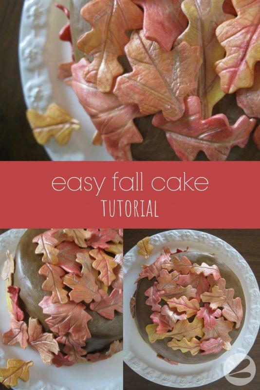 Easy Fall Cake Tutorial