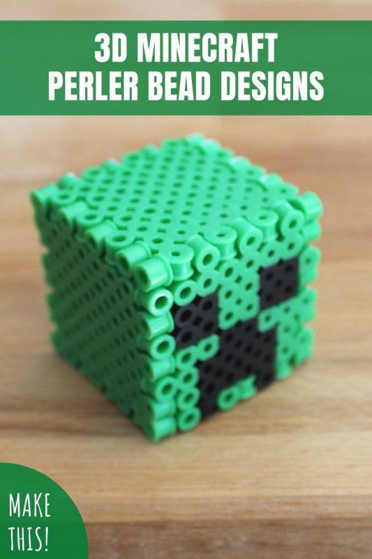 3d minecraft perler bead designs