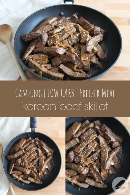 Korean Beef Camping Recipe