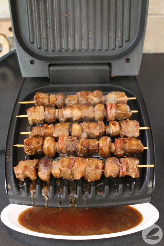 marinated steak skewers