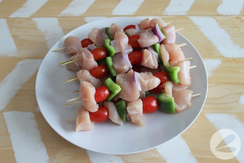 greek chicken skewers camping recipe