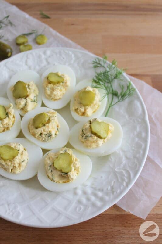 dill pickle devilled eggs recipe