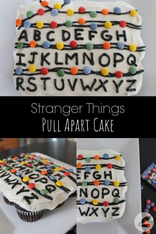 Stranger Things Pull Apart Cake